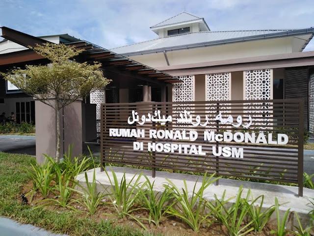 Rumah Ronald McDonald di Hospital USM Kubang Kerian Sudah DiBuka