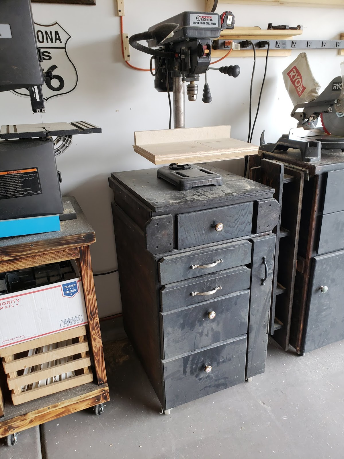 Timbos Creations Drill Press And Sanding Carts Is Preferable To A Hand When The Only Other Regularly Used Power Tool I Have Without New Cart My Right Now Its On Had Originally Made For It