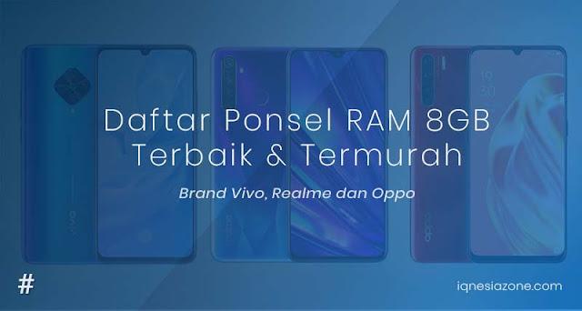 Rekomendasi HP dengan RAM 8 GB Terbaik dan Termurah 2020