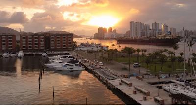 Vista a partir do Iate Clube de Santos (foto CBVela)