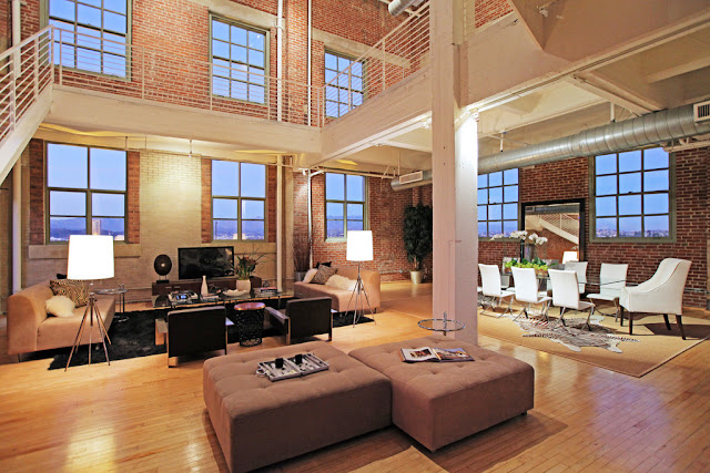 Photo of an amazing penthouse loft interiors