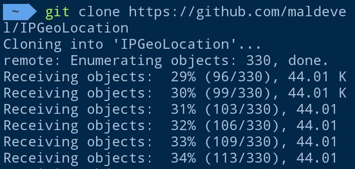 ip geolocation termux