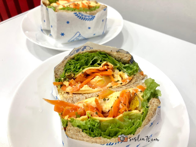 Menu Sarapan Sihat Wanpaku Sandwich Wrap
