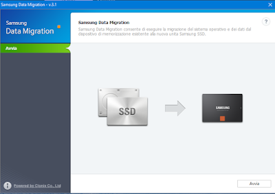 Clonare il disco con Samsung Data Migration