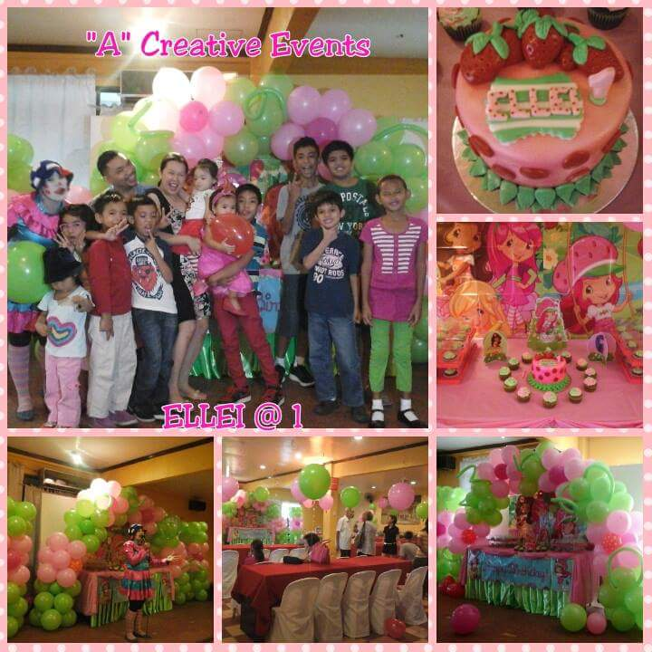 Strawberry Shortcake birthday party theme davao city