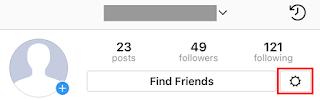 Instagram Profile Gear Icon