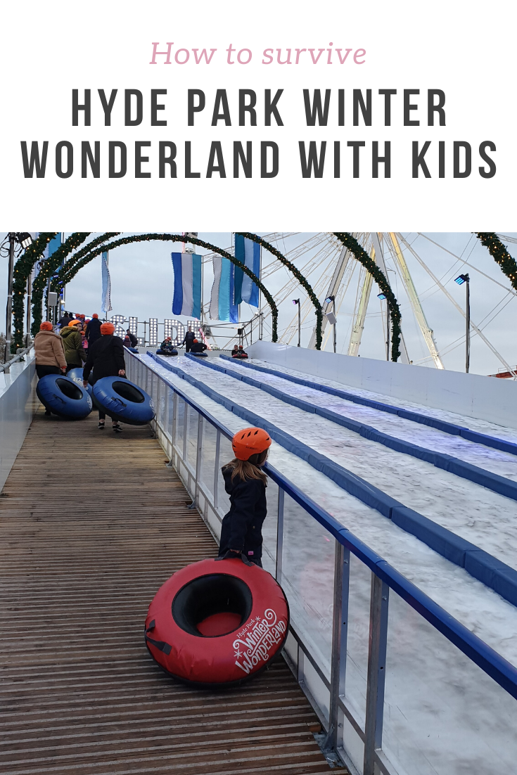 Top tips on how to have fun and survive a hectic day out with kids at Hyde Park Winter Wonderland. Ideas for food, shows, attractions and rides.
