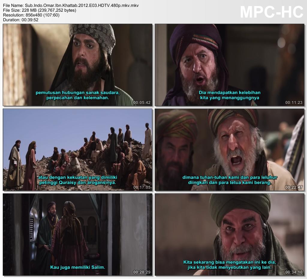 Screenshots Download Film Gratis Omar aka Farouk Omar aka Omar Ibn Al-Khattab (2012) HDTV 480p MP4 Subtitle Indonesia 3GP Nonton Film Gratis Free Full Movie Streaming
