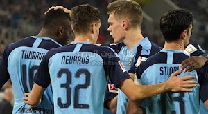 بوروسيا مونشنغلادباخ يحقق انتصار كاسح على فريق فورتونا دوسلدورف في الدوري الالماني