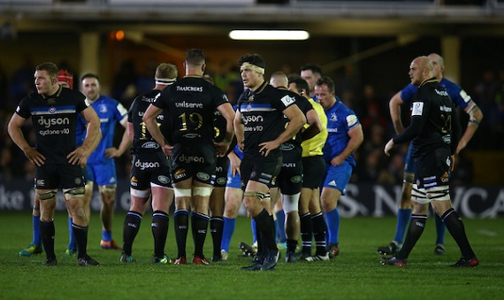 Francois Louw of Bath Rugby during the Heineken Champions Cup match between Bath Rugby and Leinster Rugby