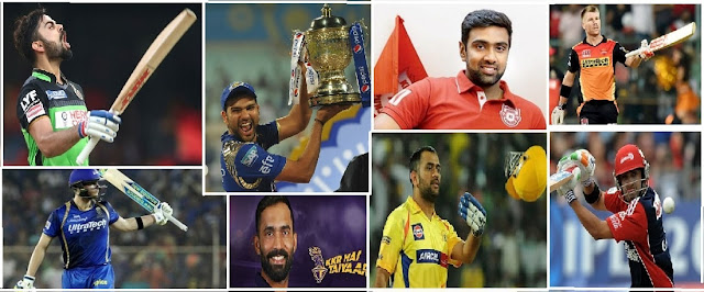 VIVO IPL 2018 : IPL TEAMS WITH THEIR CAPTAIN AND VICE- CAPTAINS