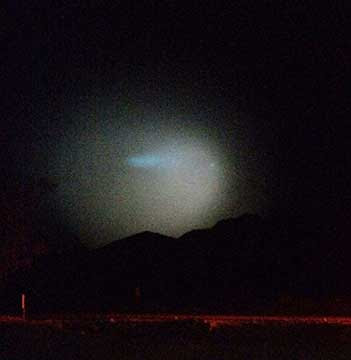 Mysterious light in sky