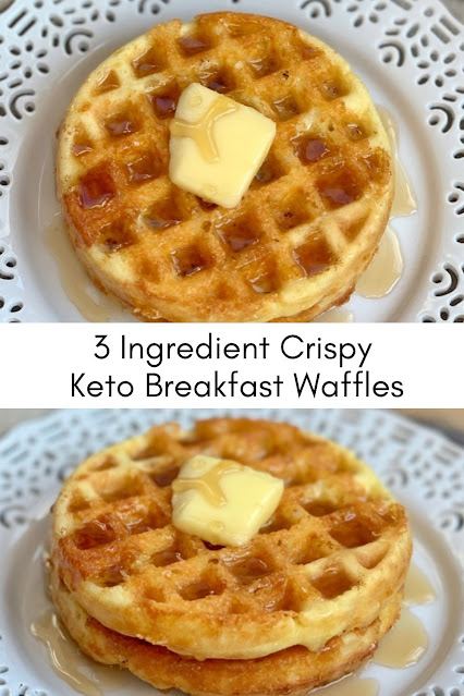 3 Ingredient Crispy Keto Breakfast Waffles
