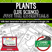 Life Science Just the Essentials Content Outlines, Next Generation Science, Outline Notes, Test Prep, Test Review, Study Guide, Summer School, Unit Reviews, Interactive Notebook Inserts