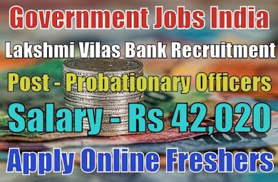 Lakshmi Vilas Bank Recruitment 2019
