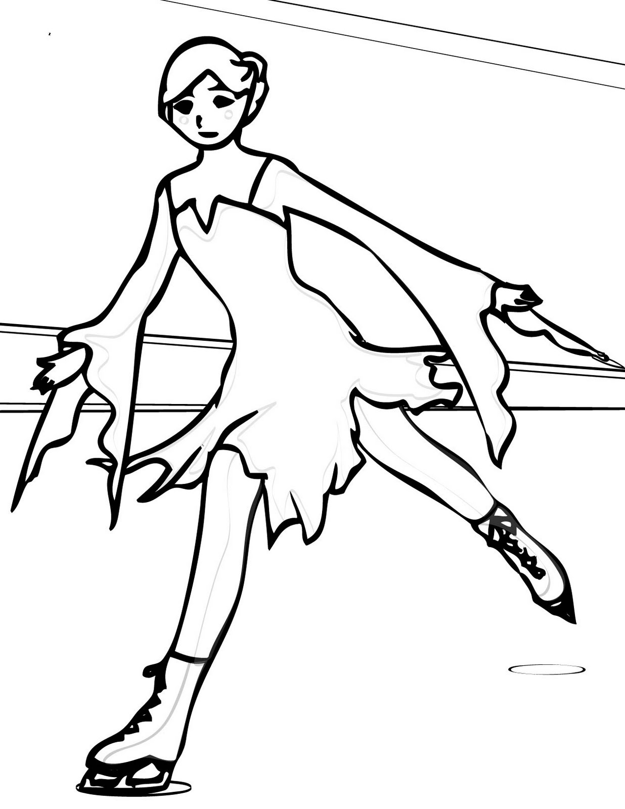 Ice Skating Coloring Pages Learn To Coloring