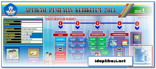 Aplikasi Penilaian K13 Revisi Terbaru Format Excel.Xlsm
