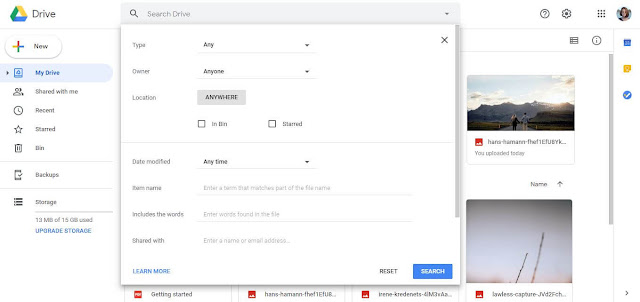 Search Files With Filters - Google Drive Tips And Tricks