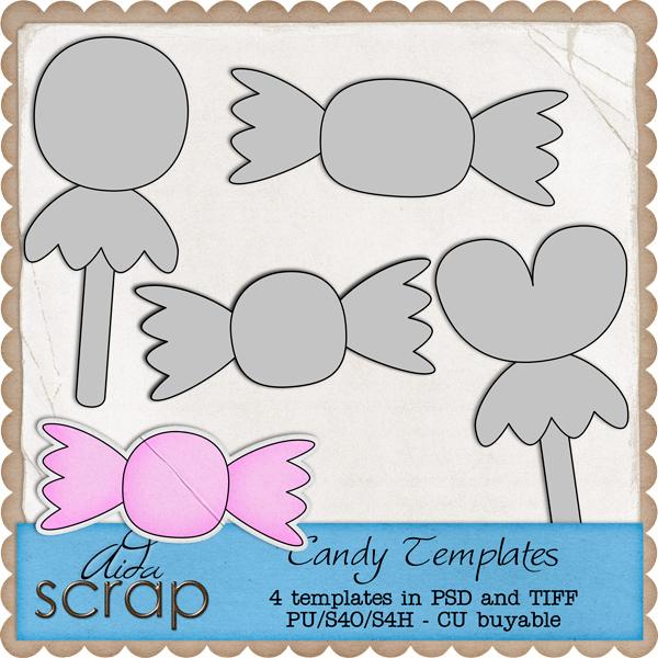 Aida Scrap: Candy Templates