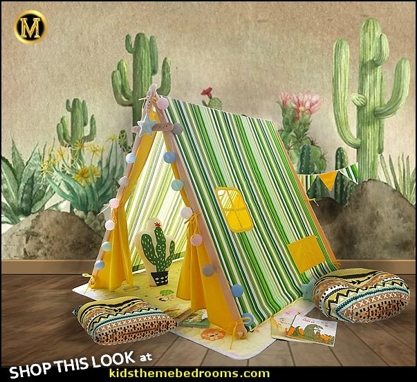 tee pee play tent cactus pillows southwestern floor pillows cactus wallpaper mural