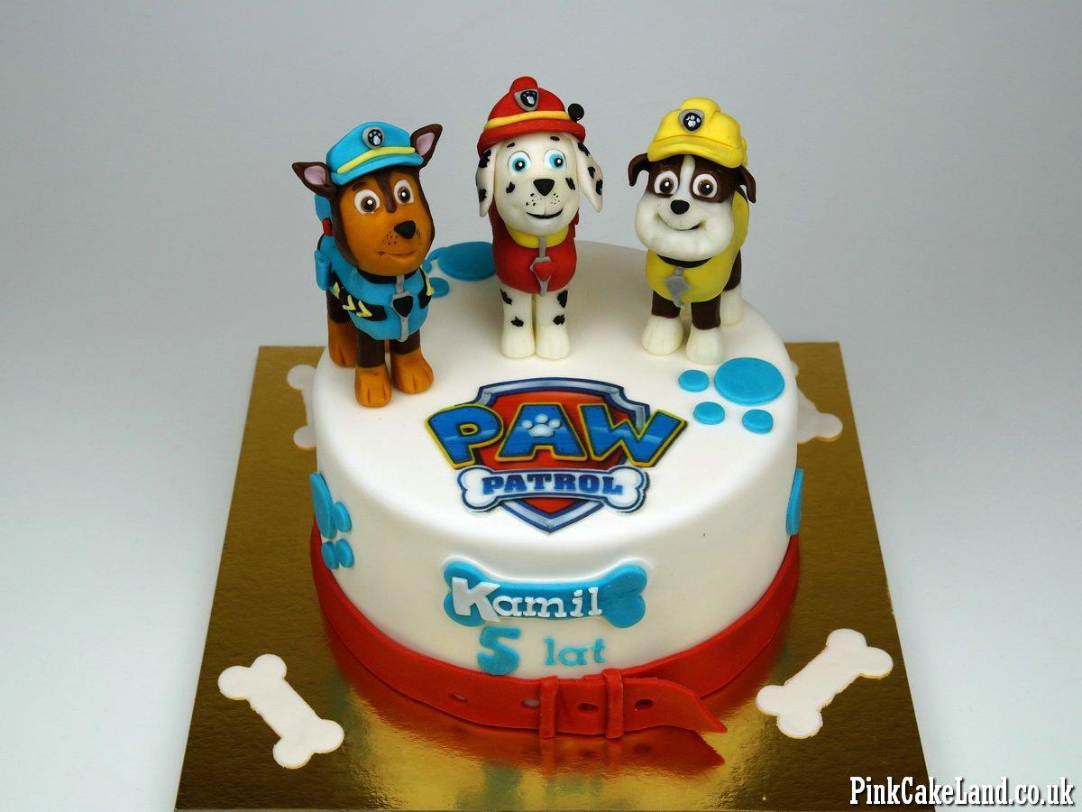 Paw patrol birthday cake 3 london paw patrol birthday cake