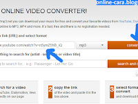 Cara Convert Video Ke MP3 Online