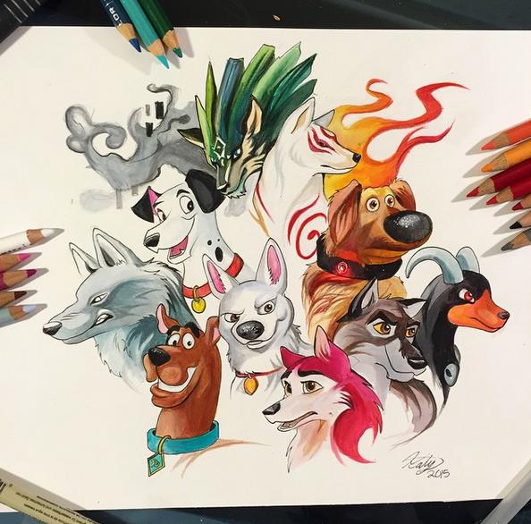 gambar keren kreatif dan menarik dengan menggunakan pensil warna-19