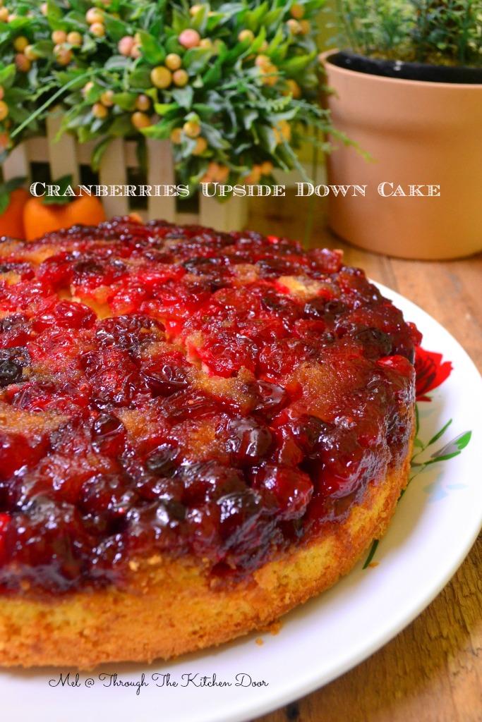 Through The Kitchen Door Cranberries Upside Down Cake
