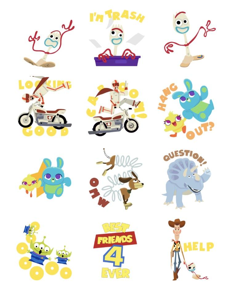 Disney·Pixar Toy Story 4 Apple iOS Sticker Pack