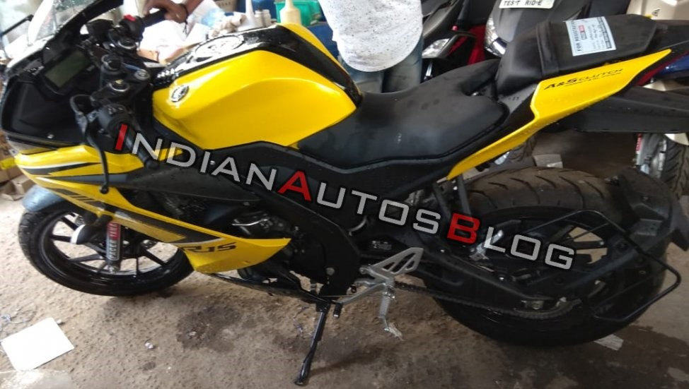Yamaha R15 v3 0 in yellow colour - MS+ BLOG