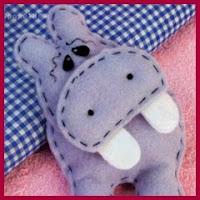 Hipopótamo de fieltro