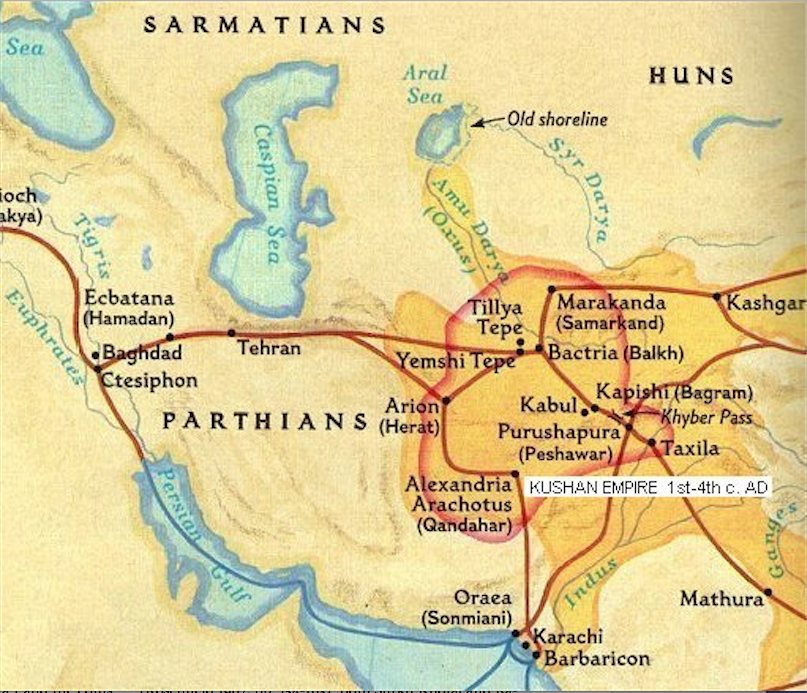 Okar Research: Kushan Empire Mint Cities on parthian empire map, choson empire map, sassanid empire map, ancient egypt nubia and kush map, gupta empire map, chola kingdom map, hephthalite empire map, ming dynasty map, frankish kingdom map, timurid empire map, umayyad empire map, afghan empire map, ghana empire map, pallava empire map, union of soviet socialist republics map, kangxi empire map, delhi sultanate map, khmer empire map, ancient persia empire map, greco-bactrian empire map,