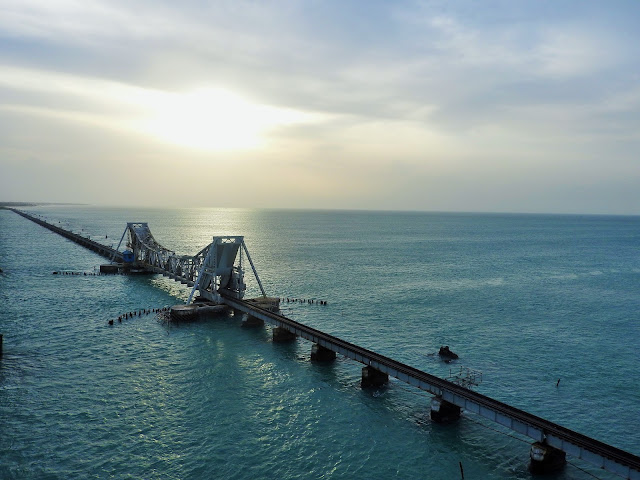 The glorious Pamban Bridge off Rameswaram in Tamil Nadu | July 2015