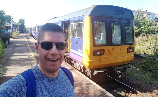 We saw Pacer Railbus 142005 a couple of times while on the Fylde coast last August