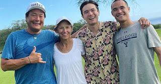 Polly Tsai with her husband Ming Tsai & their sons