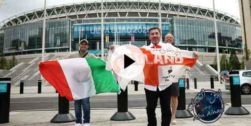 ملخص واهداف مباراة انجلترا وايطاليا نهائي اليورو 2020