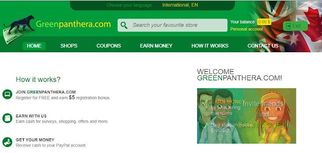 GreenPanthera: Gana 5 dolares gratis solo por registrarte