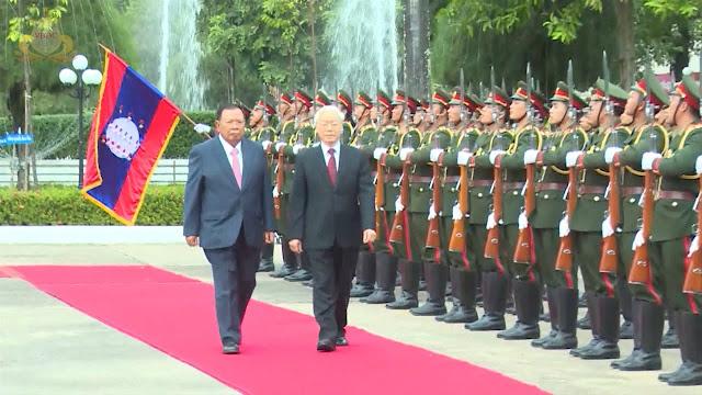 Tổng bí thư, Chủ tịch nước Nguyễn Phú Trọng thăm chính thức CHDCND Lào