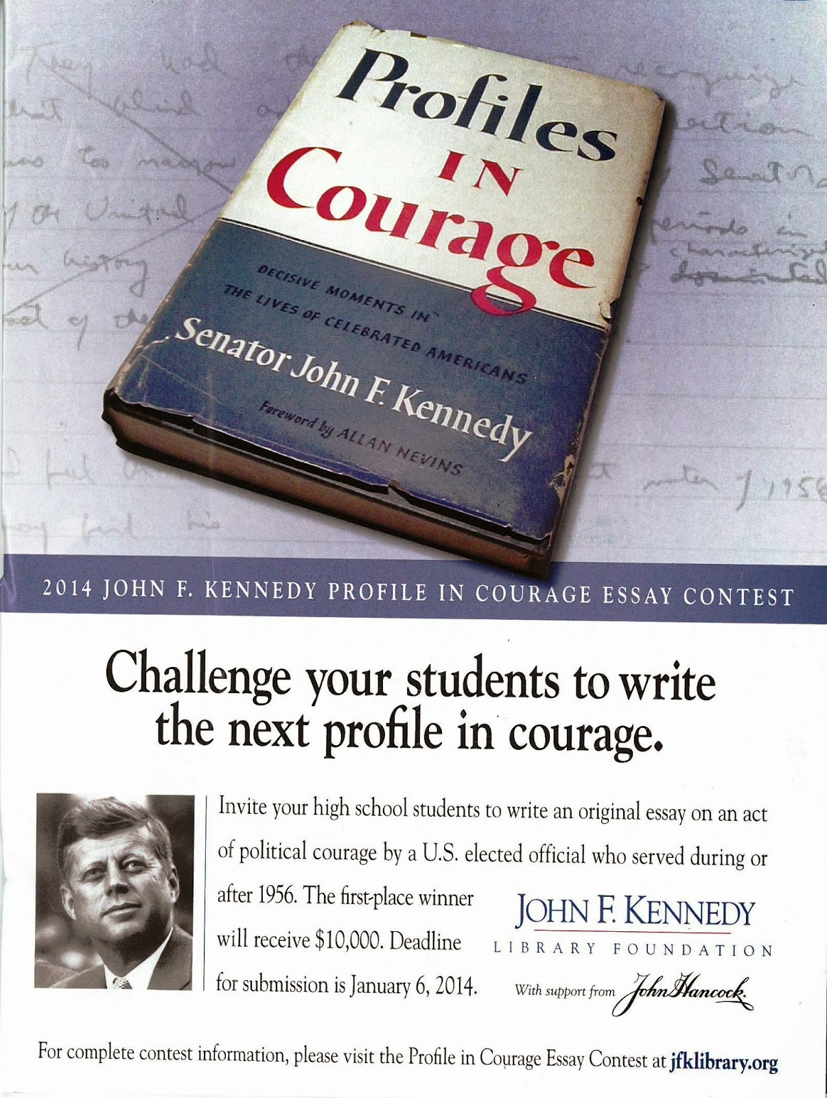 Profiles in courage essay contest past winners