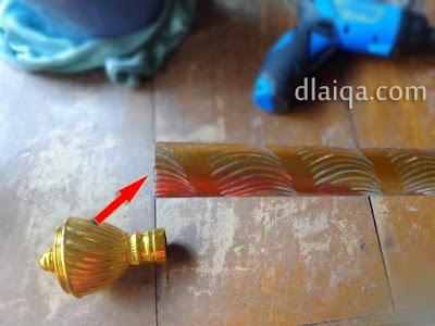 memasang end cup ke batang gorden (1)