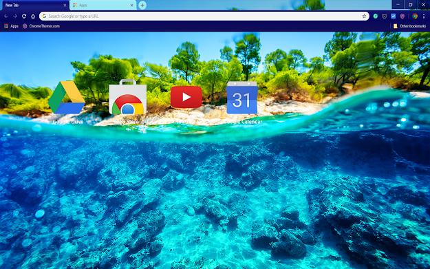 Underwater Island Chrome Theme