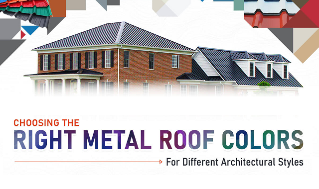 What colored metal roof will suit which type of architectural style?