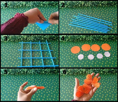 Cara Mudah Membuat Hiasan Dinding Cantik Dari Kertas Origami