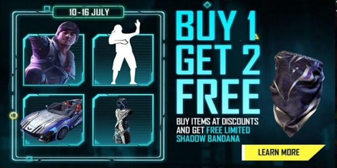 Free Fire 'Buy 1 Get 2 Free' Event Details (July 10 - 16)