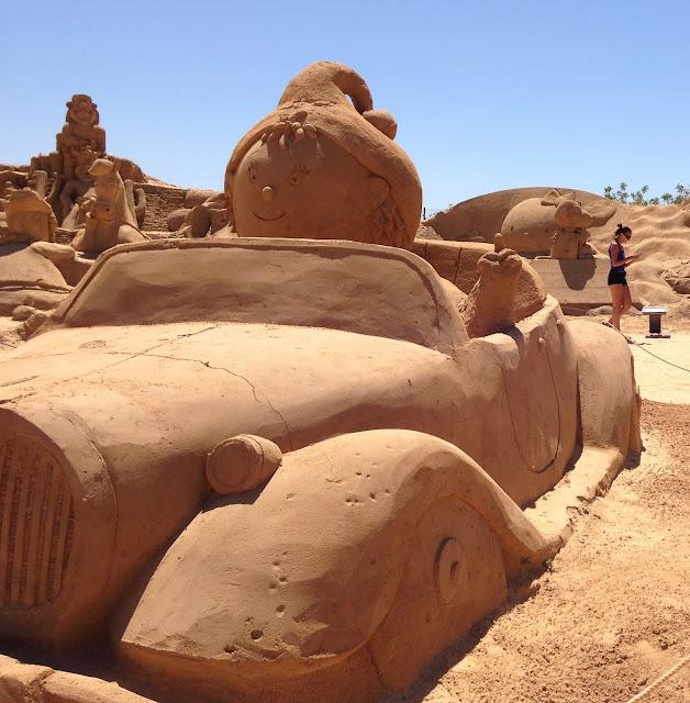 Sculpture de sable Pera