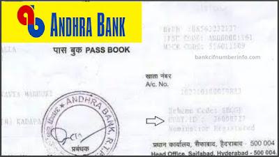Andhra Bank Balance Check by Passbook