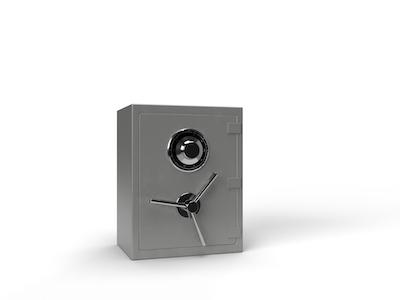 3D Closed safe background