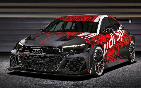 Novo Audi RS3 Sedan 2022: design antecipado pela versão de corrida LMS