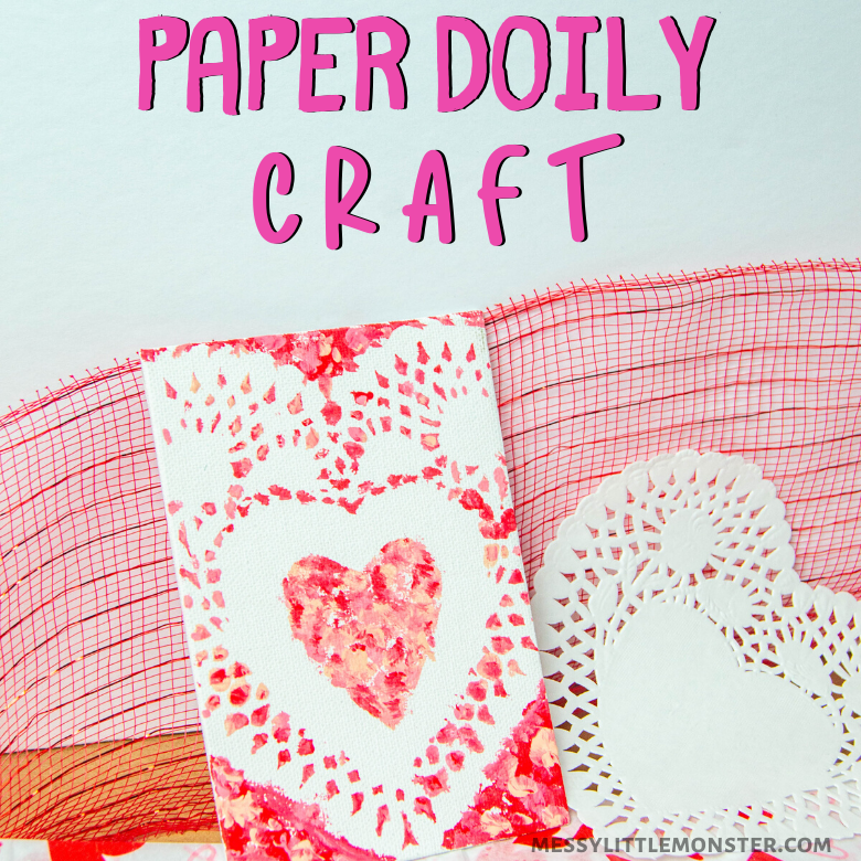 paper doily heart craft