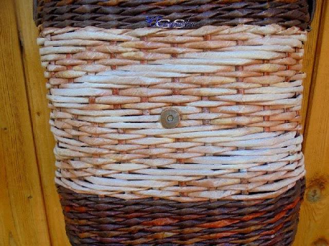 ситцевое плетение на сумочке